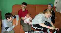 Neil, Rob, Ruth and Ami with the Baby
