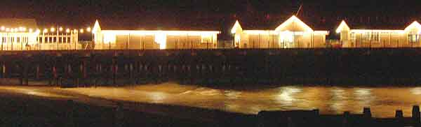 Southwold's pier at night